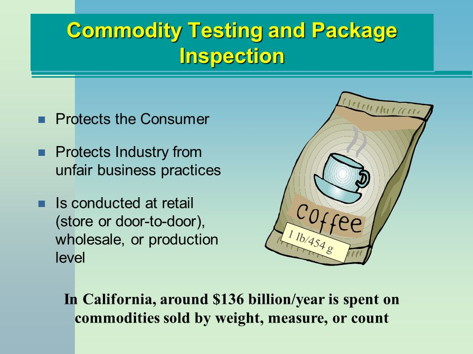 Commodity Testing and Package Inspection