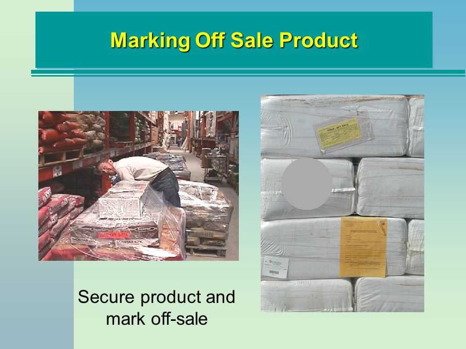 Marking Off Sale Product