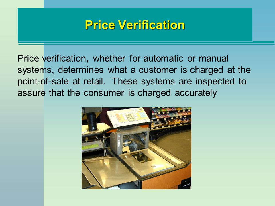 Price Verification
