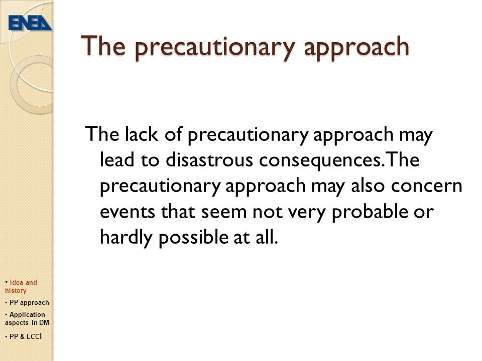 The precautionary approach