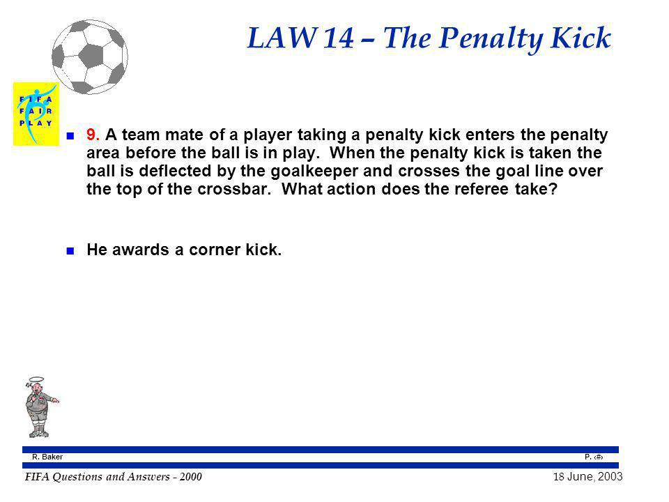 LAW 14 – The Penalty Kick