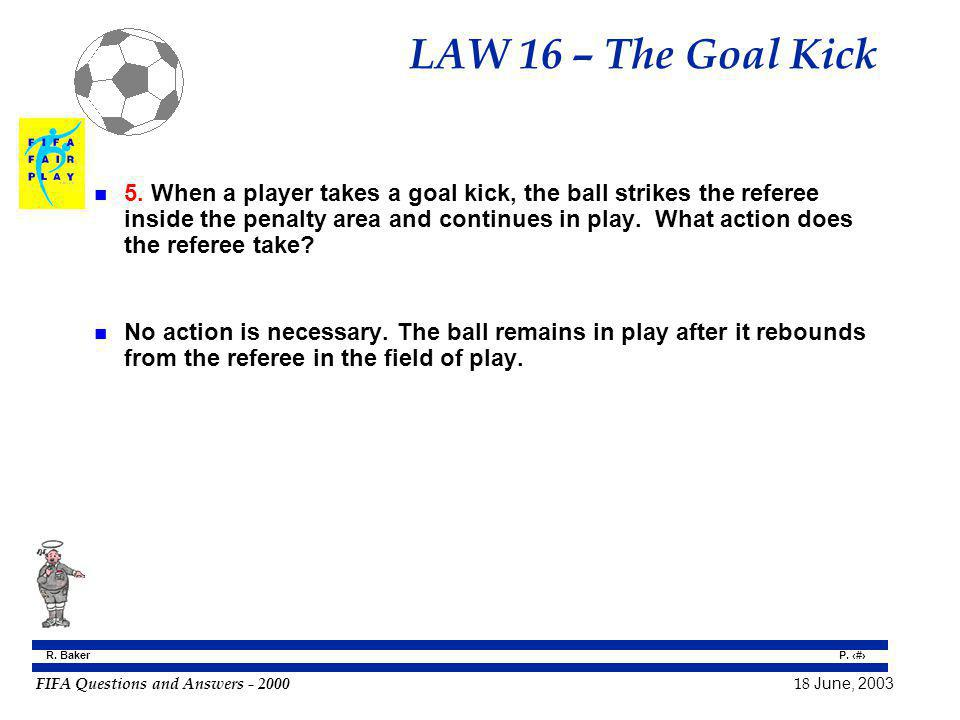 LAW 16 – The Goal Kick