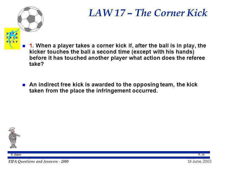 LAW 17 – The Corner Kick