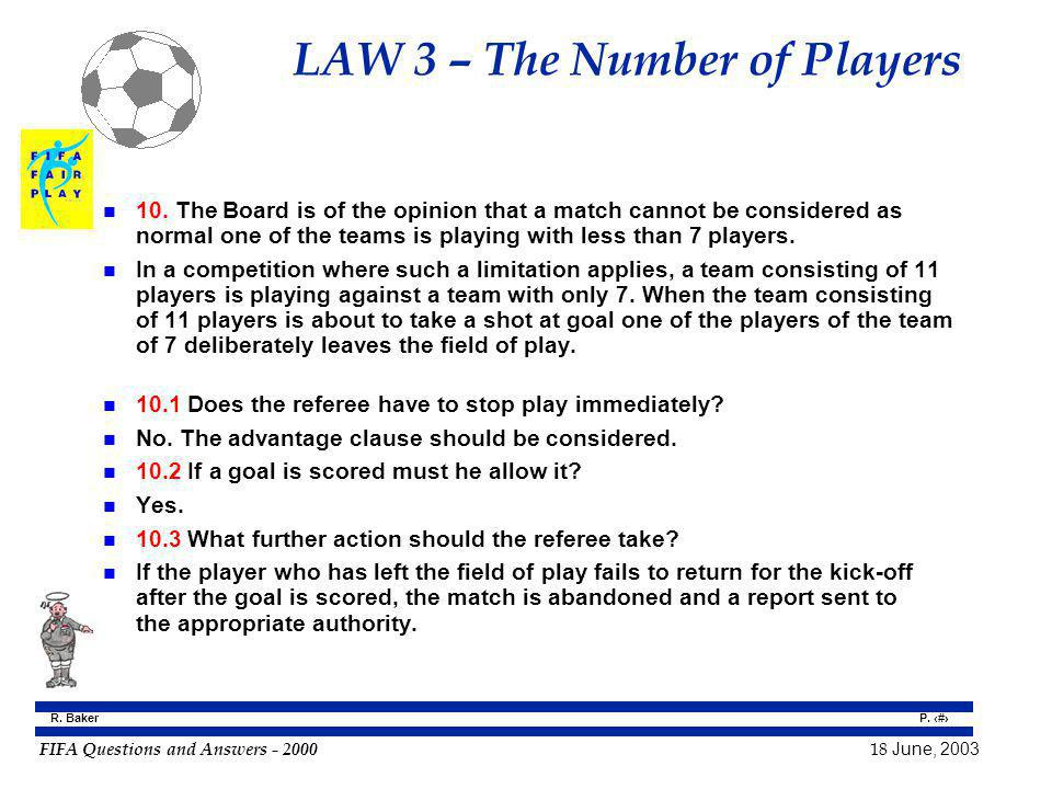 LAW 3 – The Number of Players