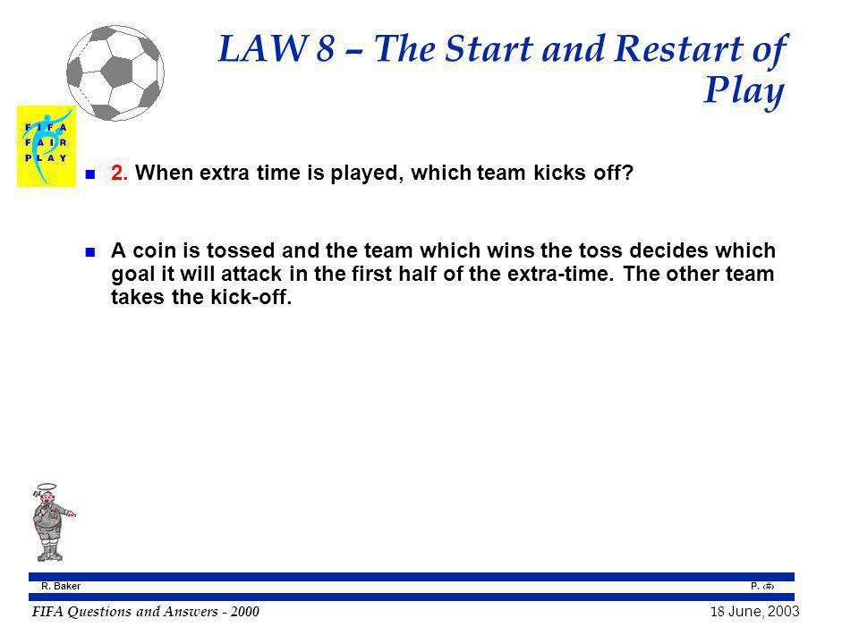 LAW 8 – The Start and Restart of Play
