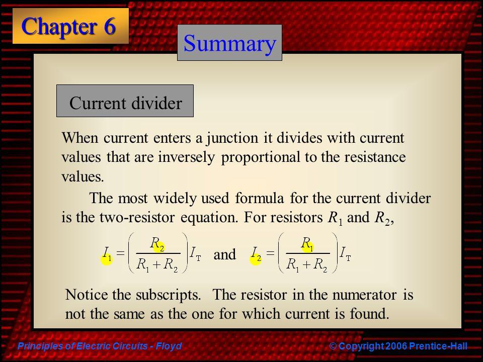 Summary Summary Current divider