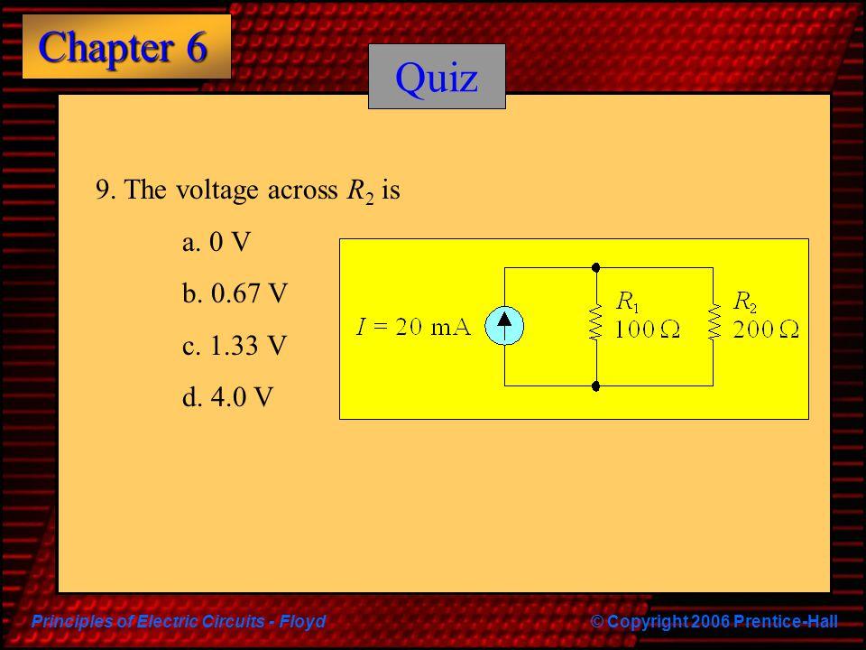 Quiz 9. The voltage across R2 is a. 0 V b. 0.67 V c. 1.33 V d. 4.0 V