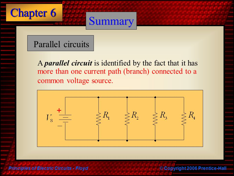 Summary Summary Parallel circuits