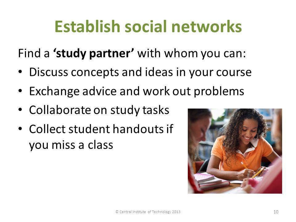 Establish social networks