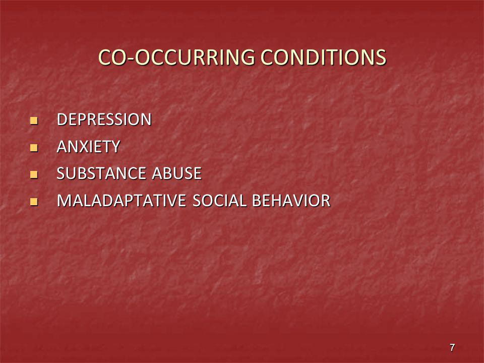 CO-OCCURRING CONDITIONS