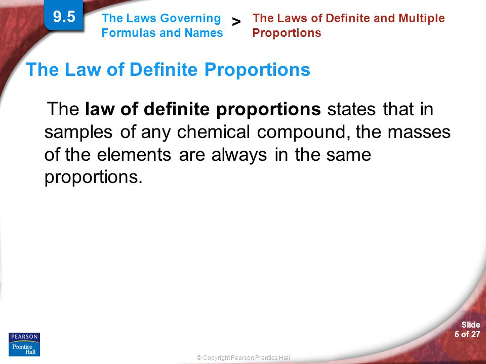 The Laws of Definite and Multiple Proportions