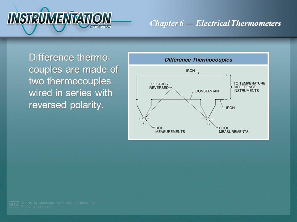 Difference thermo-couples are made of two thermocouples wired in series with reversed polarity.