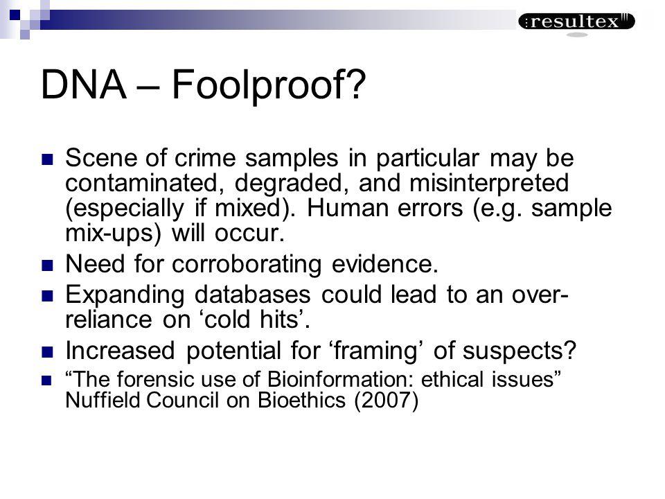 DNA – Foolproof