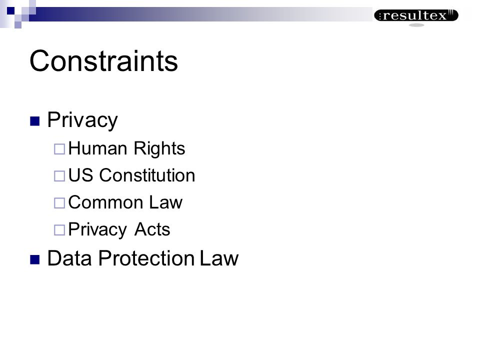 Constraints Privacy Data Protection Law Human Rights US Constitution