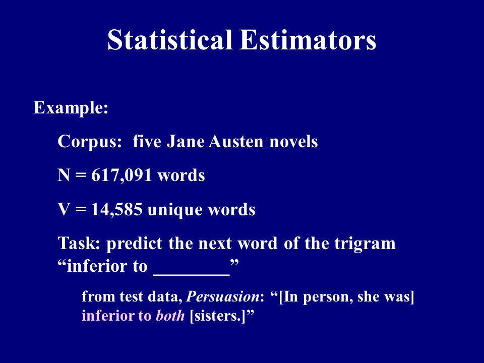 Statistical Estimators