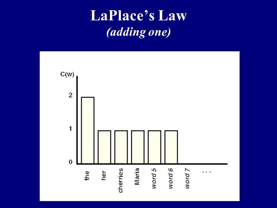LaPlace's Law (adding one)