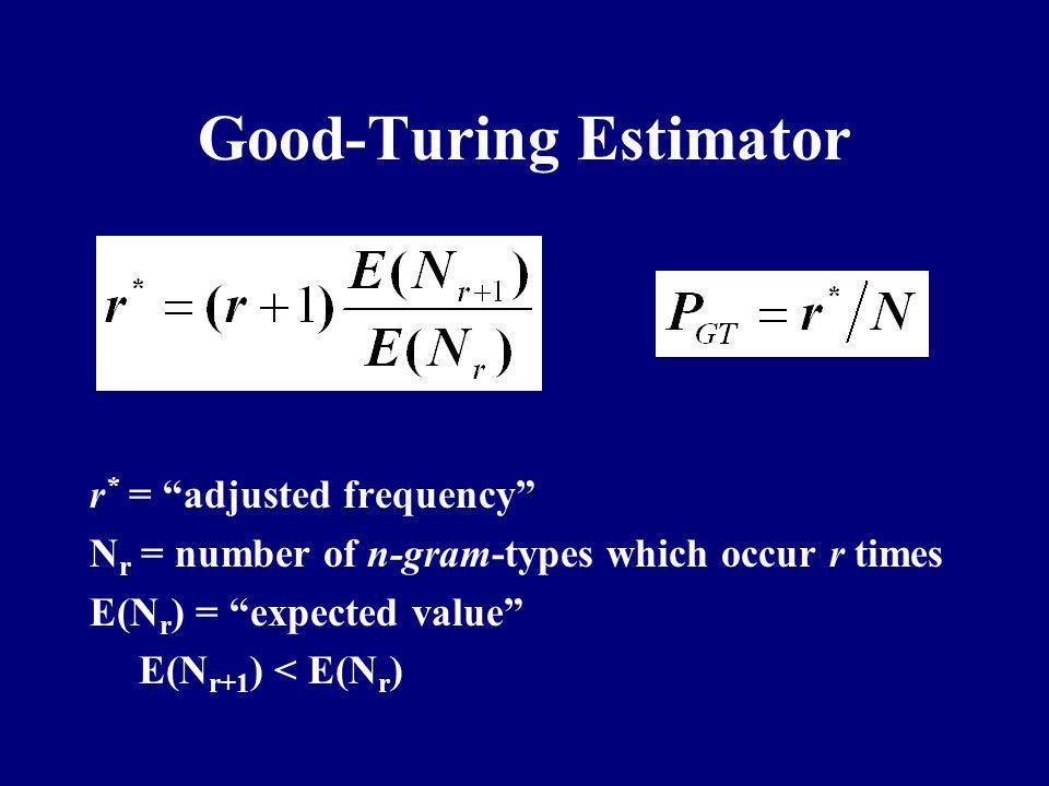 Good-Turing Estimator