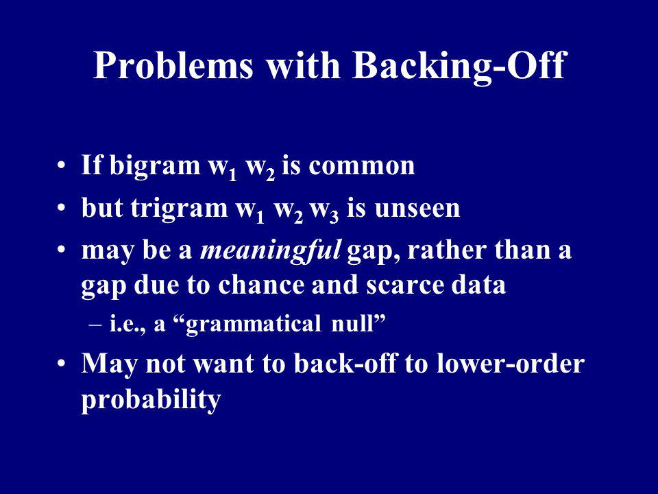 Problems with Backing-Off