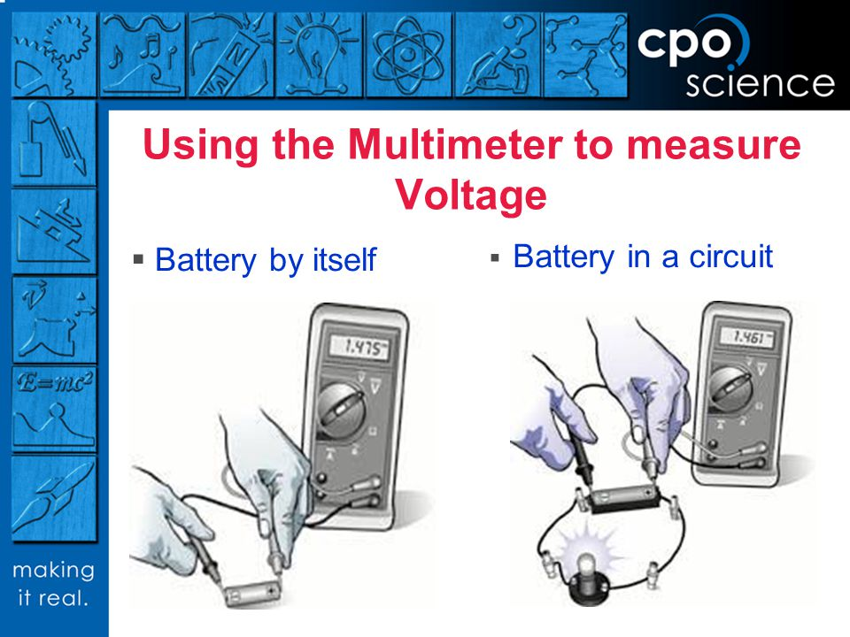 Using the Multimeter to measure Voltage