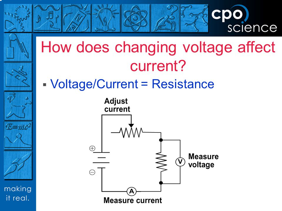 How does changing voltage affect current