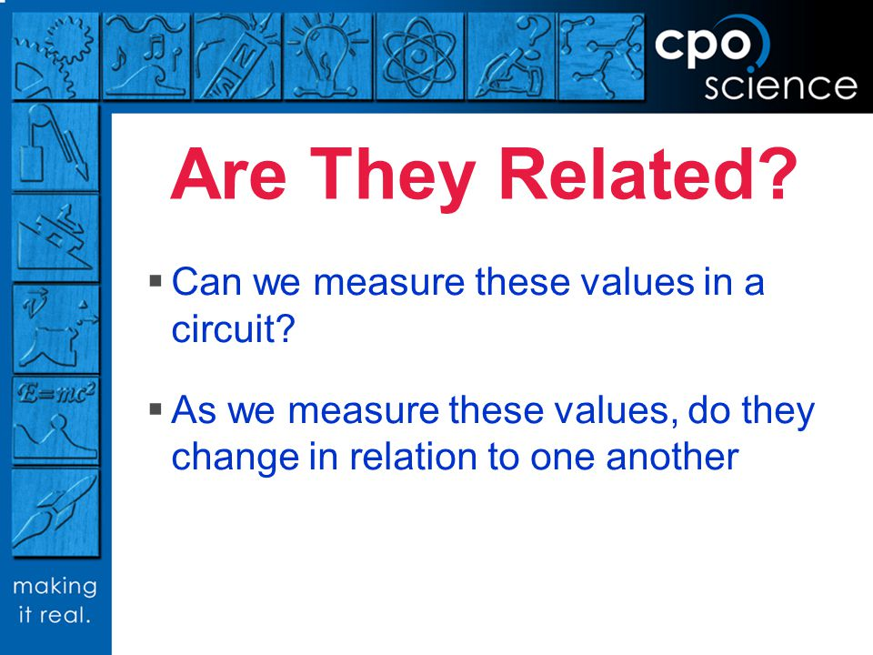 Are They Related Can we measure these values in a circuit