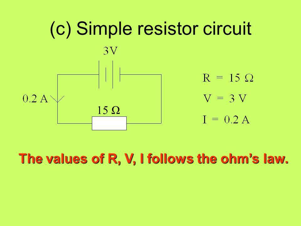 (c) Simple resistor circuit