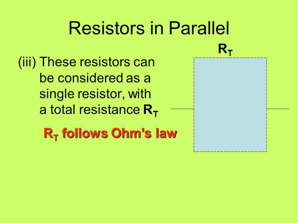 Resistors in Parallel RT