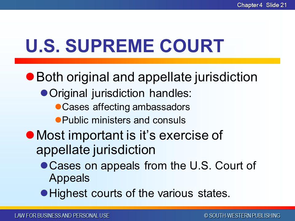U.S. SUPREME COURT Both original and appellate jurisdiction