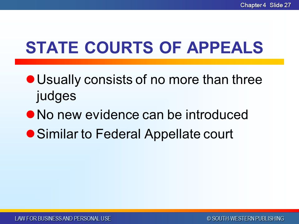 STATE COURTS OF APPEALS