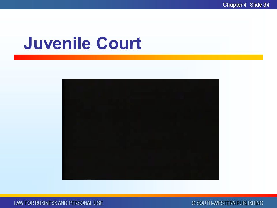 Chapter 4 Juvenile Court