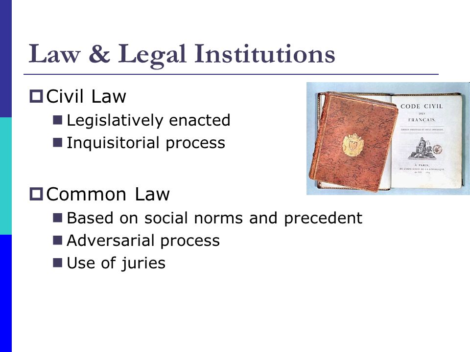 Law & Legal Institutions