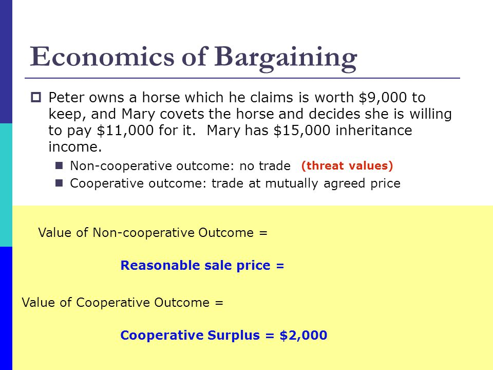 Economics of Bargaining