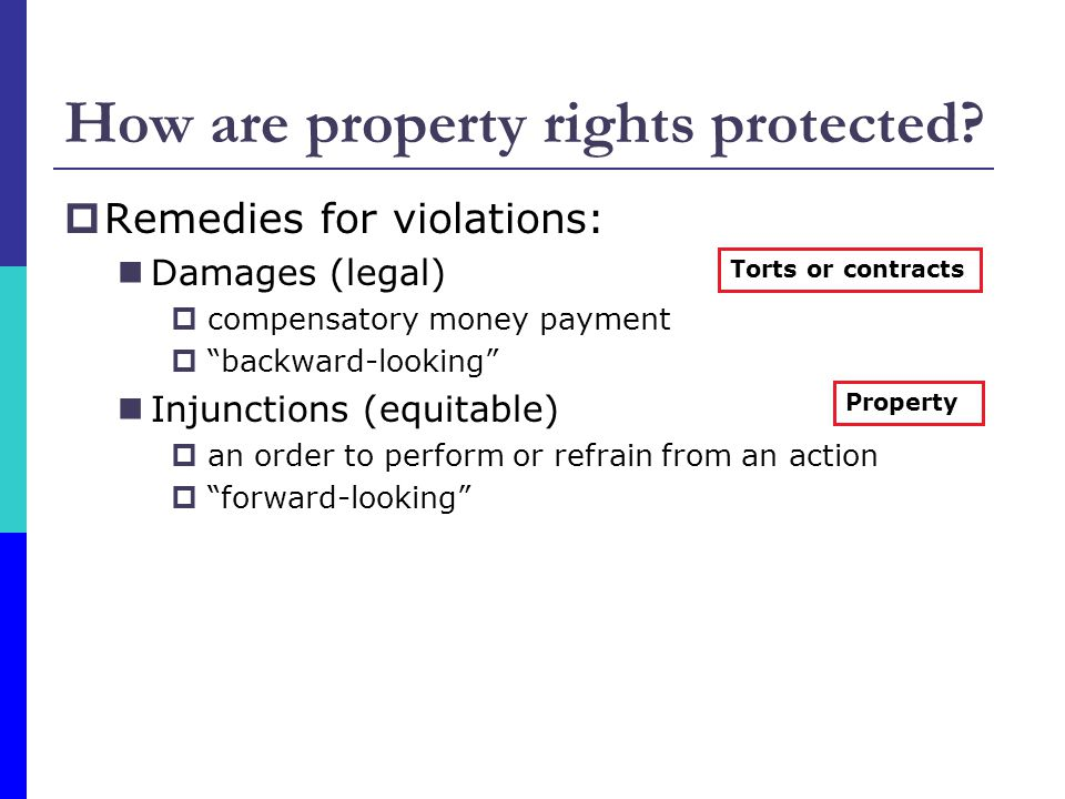How are property rights protected