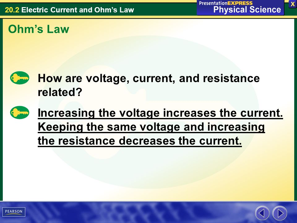 Ohm's Law How are voltage, current, and resistance related