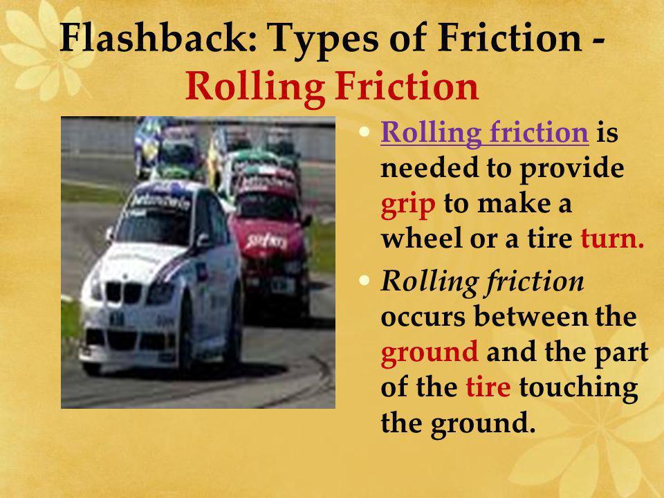 Flashback: Types of Friction - Rolling Friction