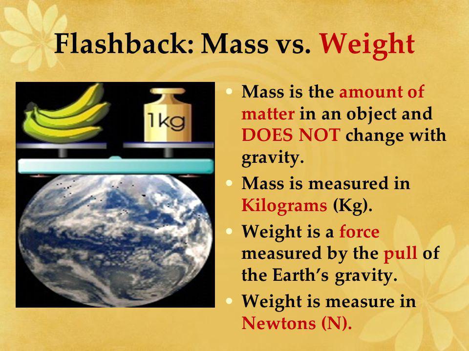Flashback: Mass vs. Weight