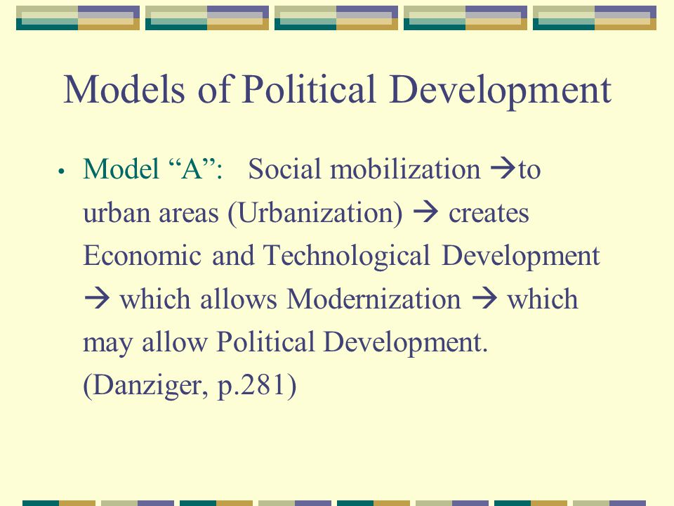 Models of Political Development