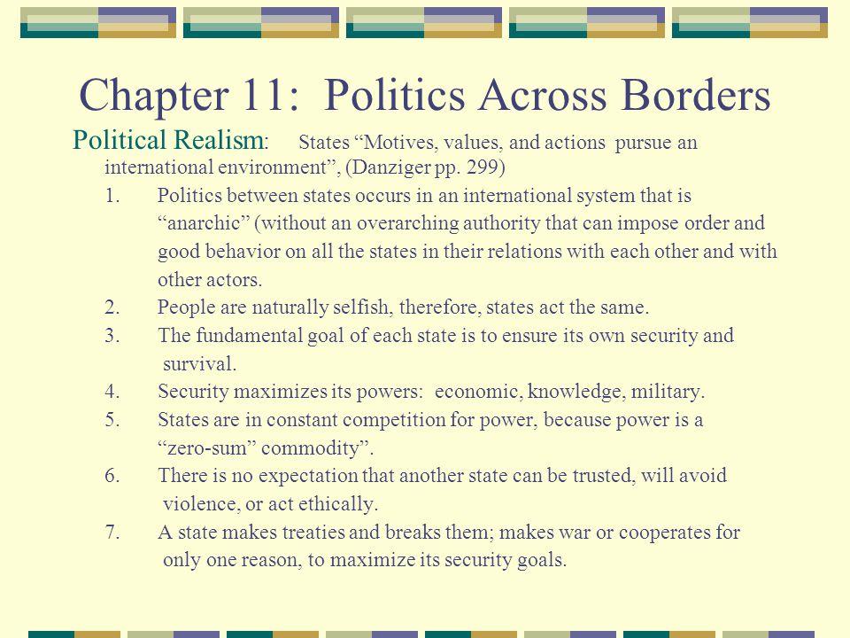 Chapter 11: Politics Across Borders