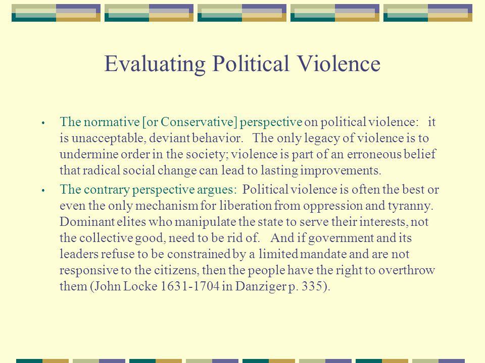 Evaluating Political Violence