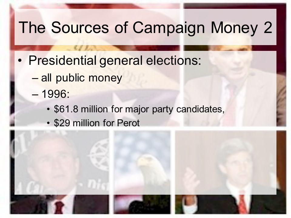 The Sources of Campaign Money 2