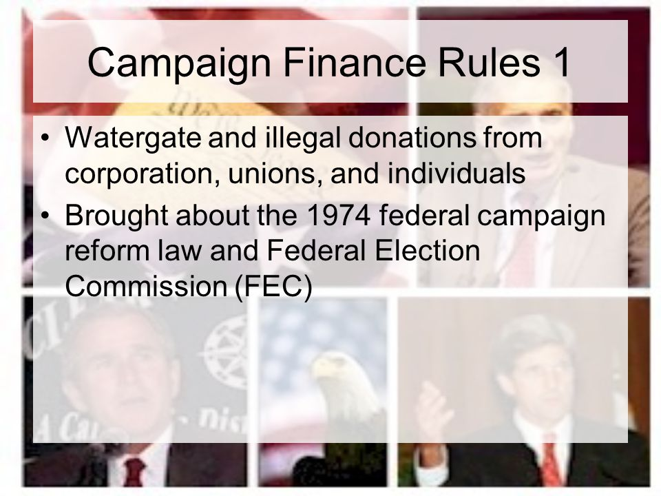 Campaign Finance Rules 1