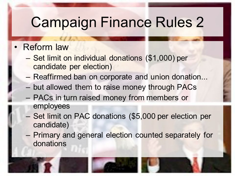 Campaign Finance Rules 2