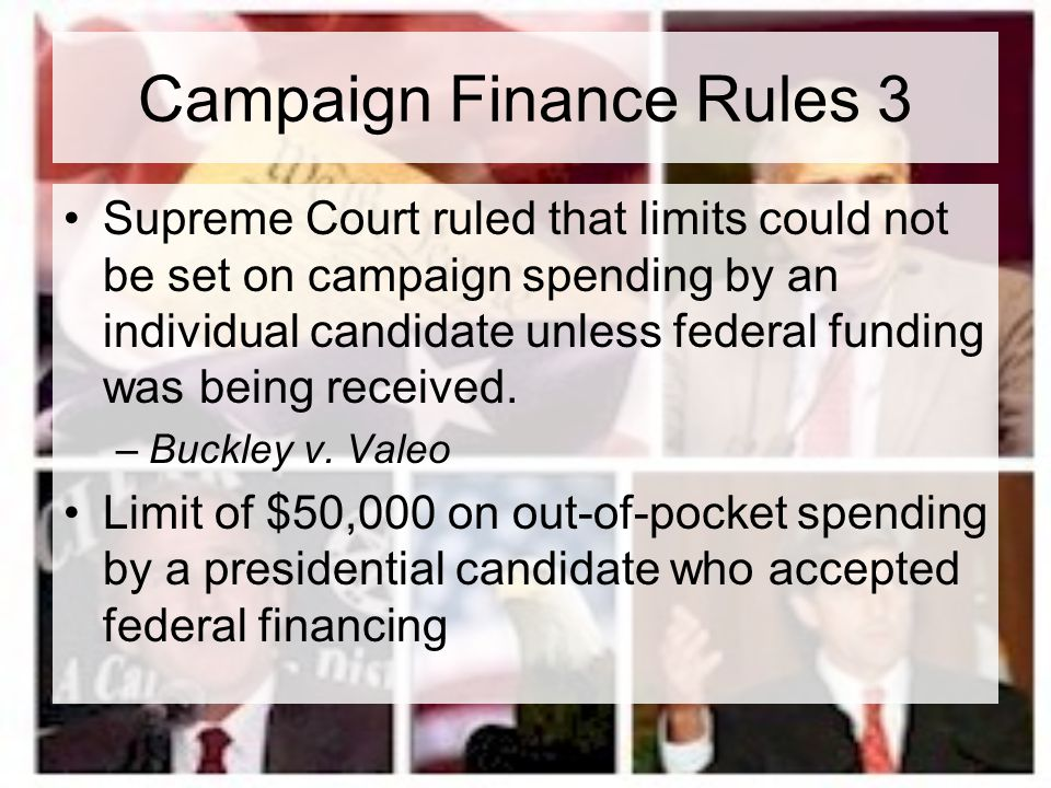 Campaign Finance Rules 3