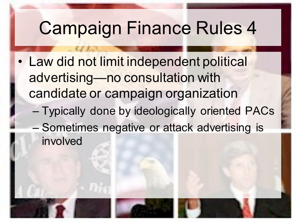 Campaign Finance Rules 4