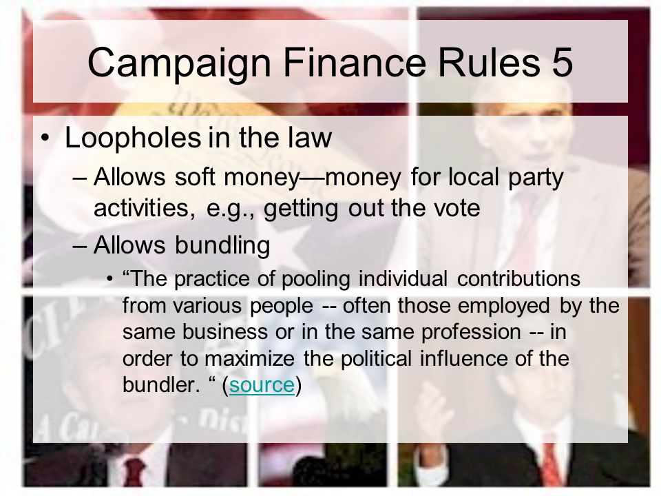 Campaign Finance Rules 5