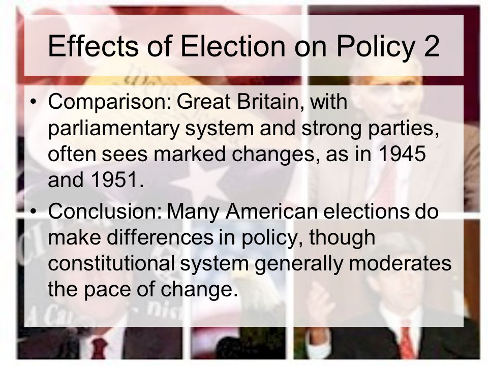 Effects of Election on Policy 2