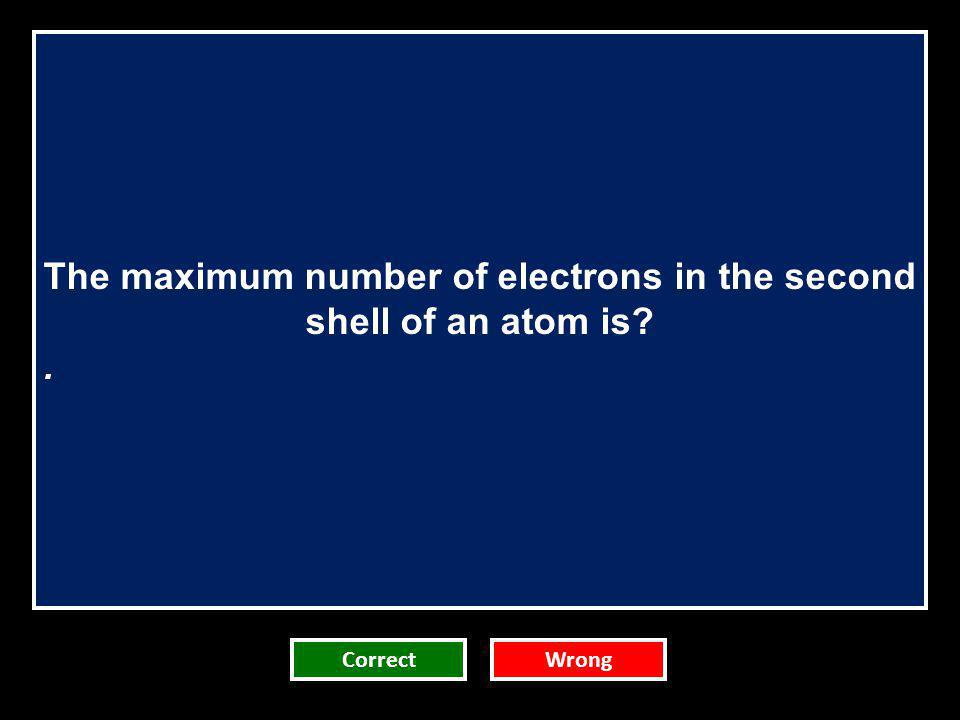 The maximum number of electrons in the second shell of an atom is