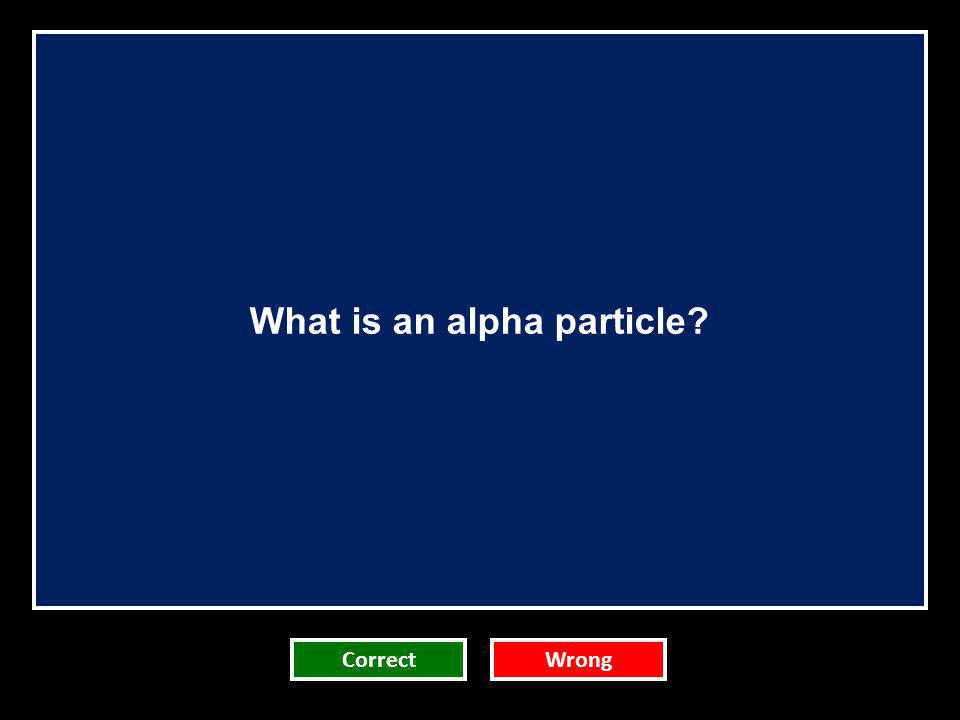 What is an alpha particle
