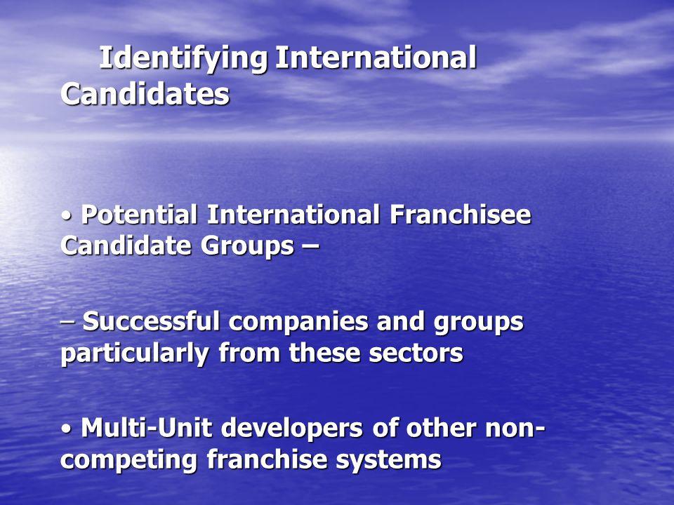 Identifying International Candidates