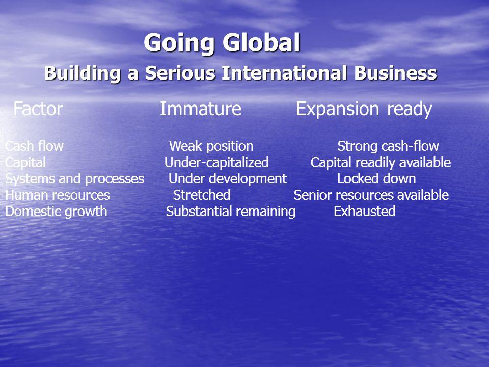 Going Global Building a Serious International Business